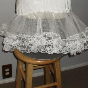 NWOT White Petticoat O/S